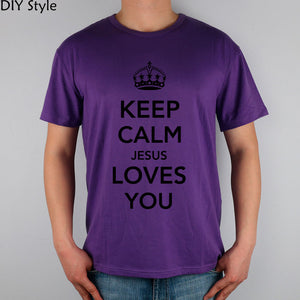 KEEP CALM and Jesus loves you Christian Catholic God LORD T-shirts