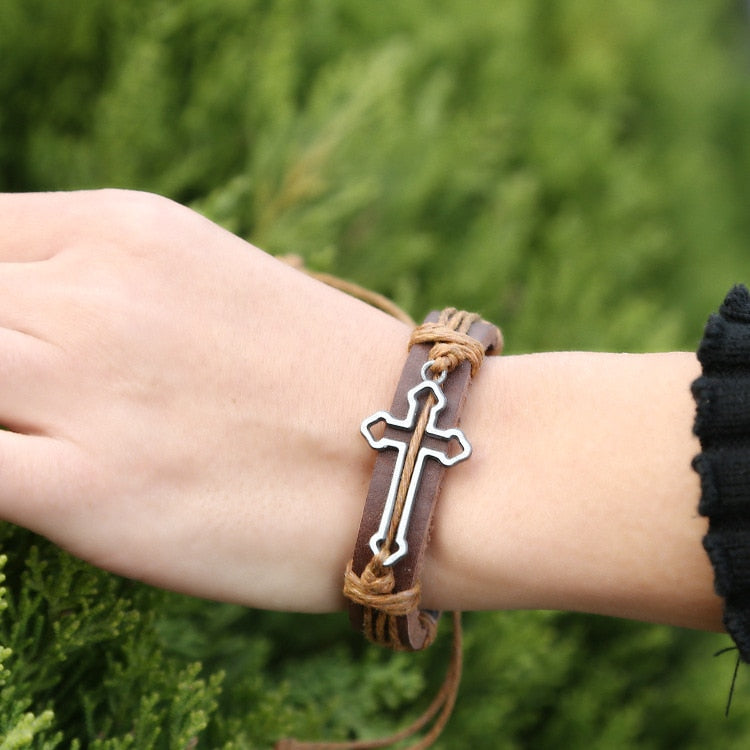 Bangle Fashion Punk Cross Bracelet