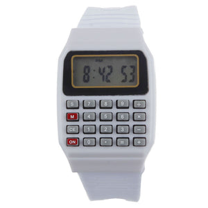 Smilelee Unsex Silicone Calculator Multi-Purpose Display children Watch