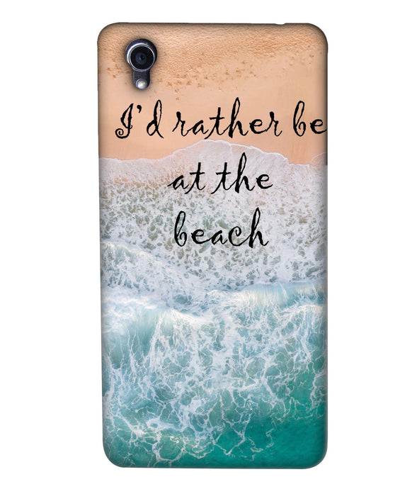 Oppo F1 Beach Mobile Cover