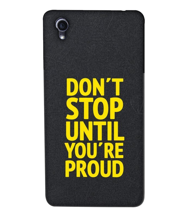 Oppo F1plus Don't Stop mobile cover