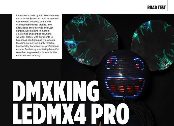 DMXking LeDMX4 Pro Review in CX Magazine
