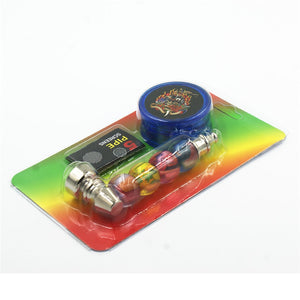 1PC Pipe+1PC Tobacco+1PC Mesh Pocket Pipe Smoking Herb/weeds/ Pipe Tobacco Pipe With Grinder Mesh Filter - BADA$$ T-SHIRTS