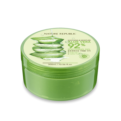 [Nature Republic] Aloe Vera Soothing and Moisture Gel 92% - 300ml - kmade cosméticos coreanos