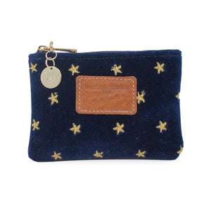 Jane Coin Purse - Limited Edition Gold Stars on Navy Velvet