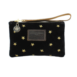 Ada Mini Clutch - Limited Edition Gold Stars on Black Velvet