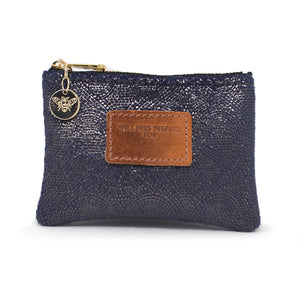 Jane Coin Purse - Blue Paisley Sparkle