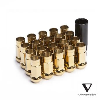 varrstoen lug nut chrome gold 24k
