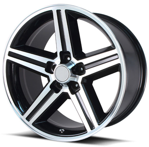"18"" iroc rims wheels black machine"