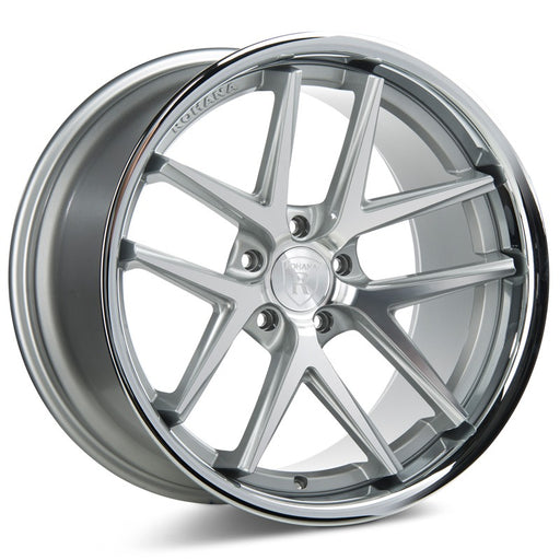 "19"" Rohana RC9 Wheels Machine Silver Stainless Lip"