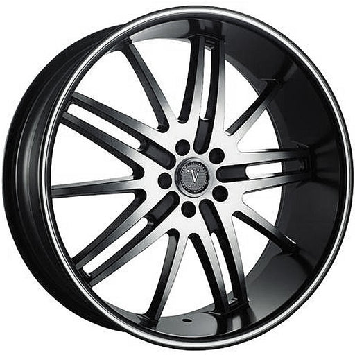 "20"" Velocity VW910 Wheels Black Machine"