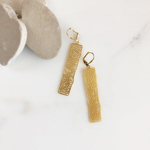Large Gold Rectangle Earrings. Drop Earrings. Dangle. Geometric. Simple. Jewelry Gift for Her. Gift. Jewelry.