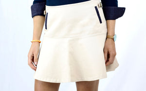 Carolyn - ivory cream skirt