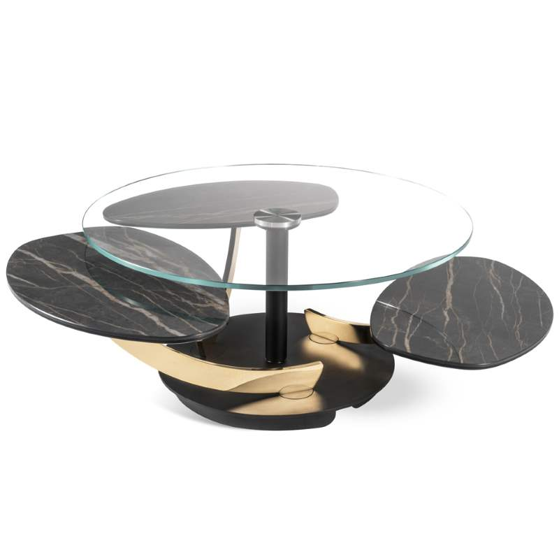 Petres - modern Italian glass  coffee table with luxury styling by Naod made in Italy