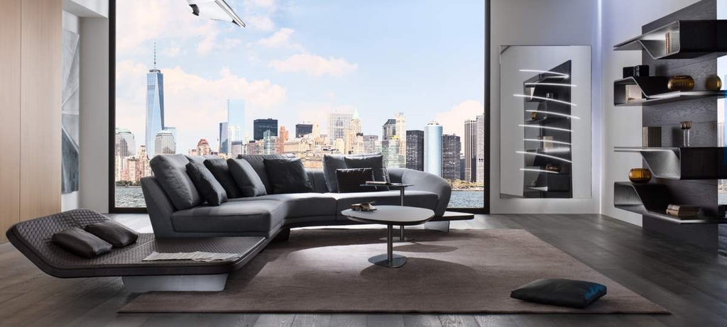 Segno Sofa Chaise Lounge B - Luxury Italian Sectional designed by Pininfarina for  Reflex