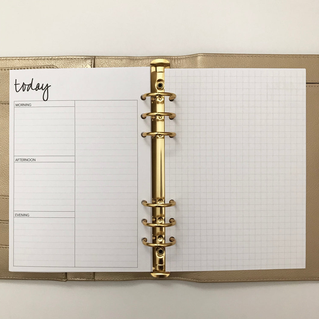 Planner Inserts - A5 Size UNDATED Daily