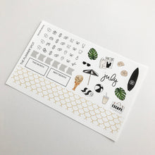 "Load image into Gallery viewer, Monthly Sticker Kit - July ""Escape"""