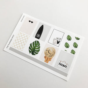 "Monthly Sticker Kit - July ""Escape"""