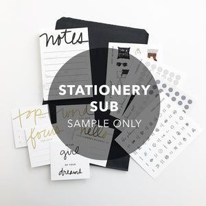 Monthly Subscription - STATIONERY KIT