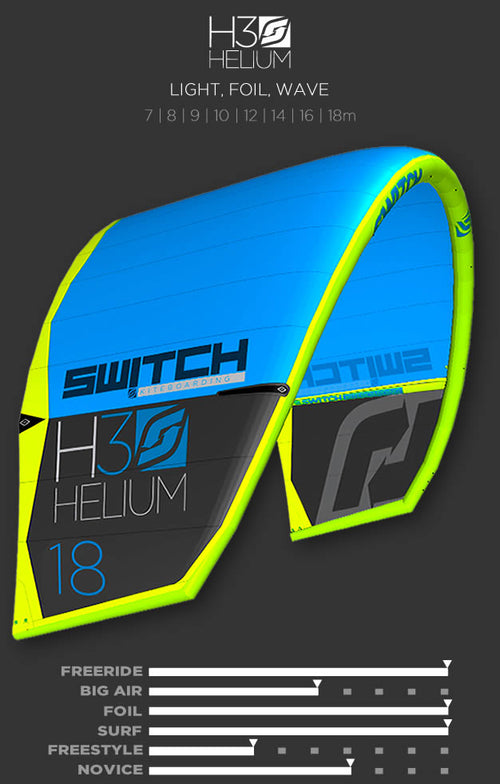 HELIUM 3 Switch Kiteboarding