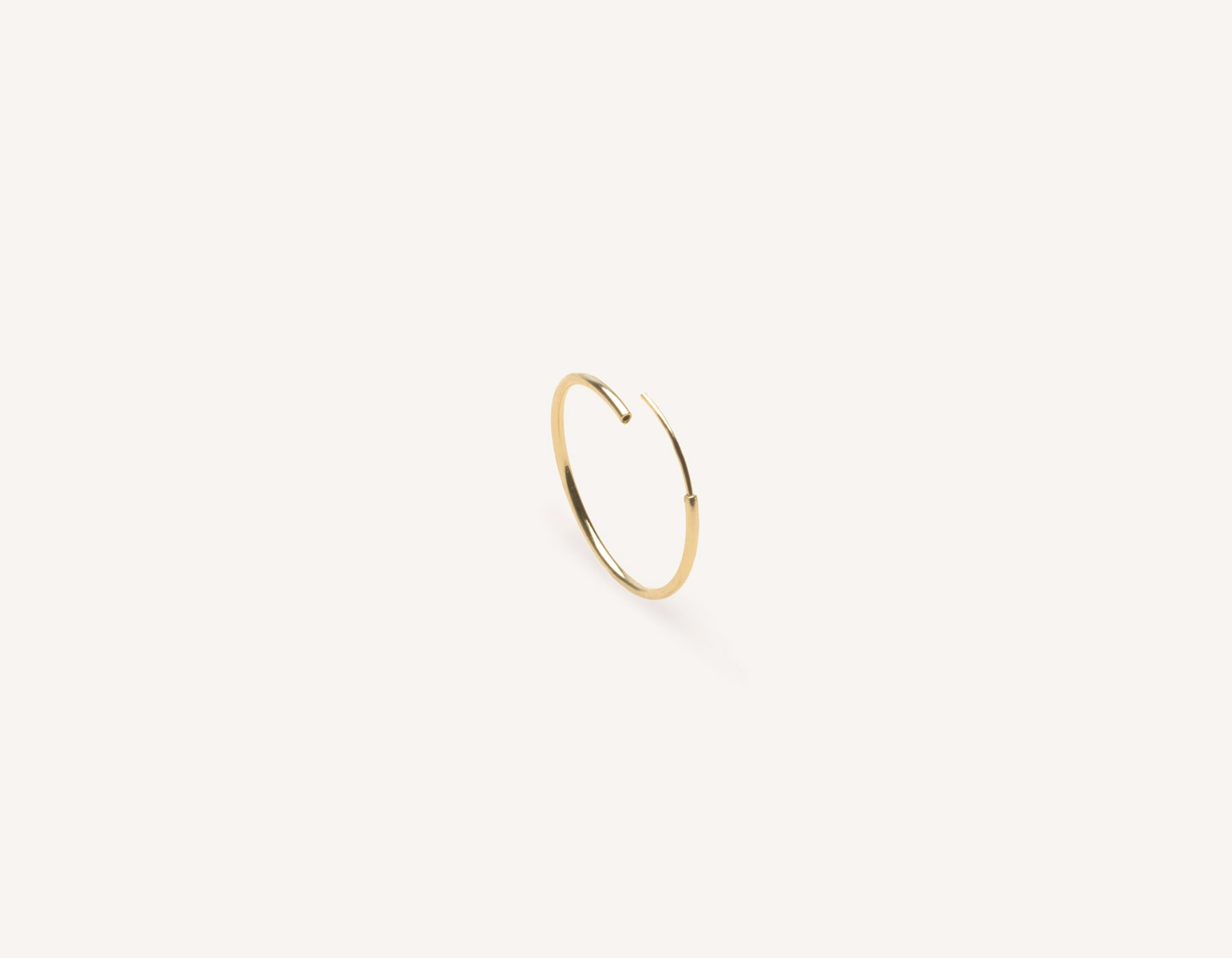 delicate sleek Medium Lightweight Hoops 14k solid gold Vrai and Oro minimalist jewelry, 14K Yellow Gold