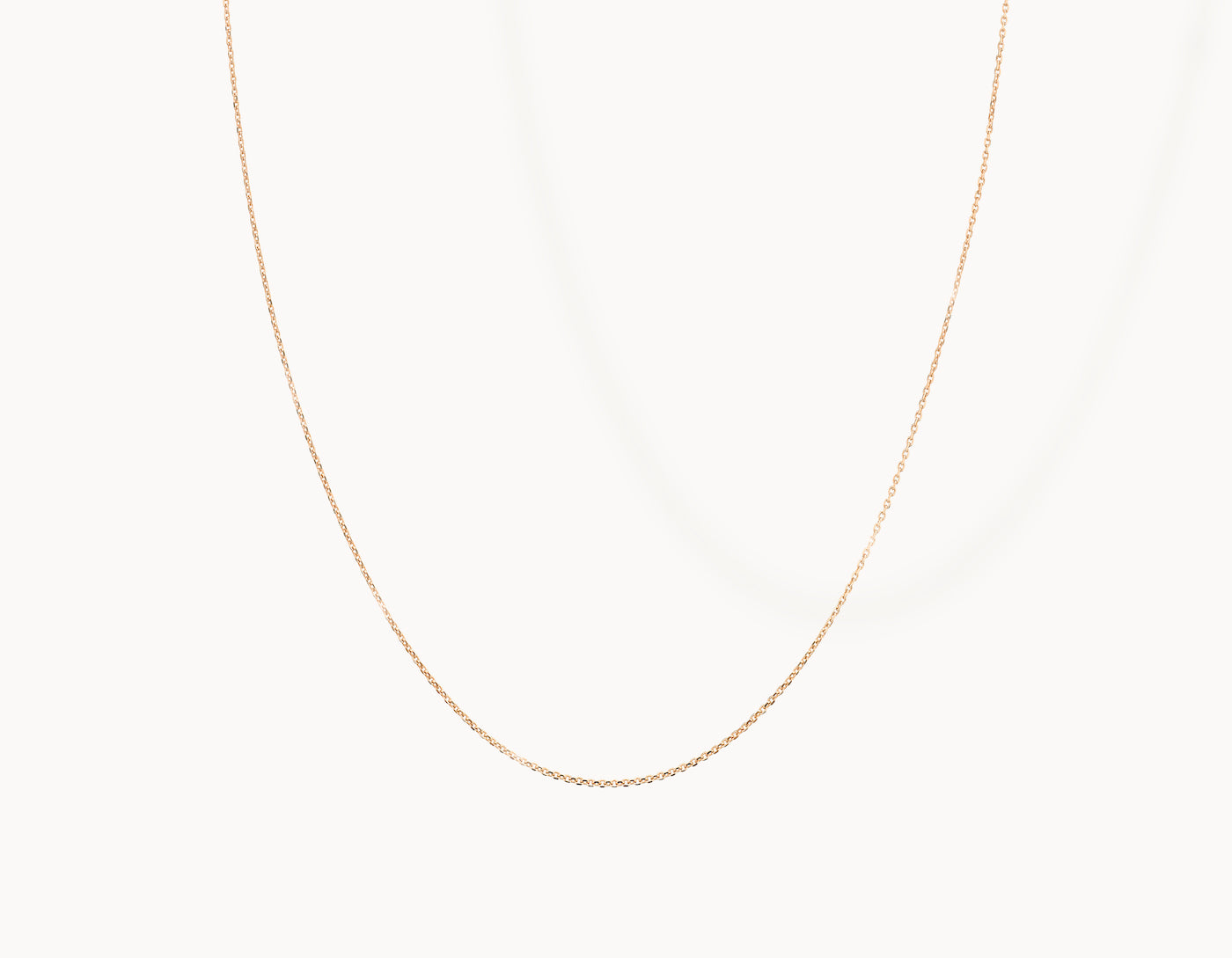 Delicate simple diamond cut Shimmer Chain Necklace by Vrai, 14K Rose Gold