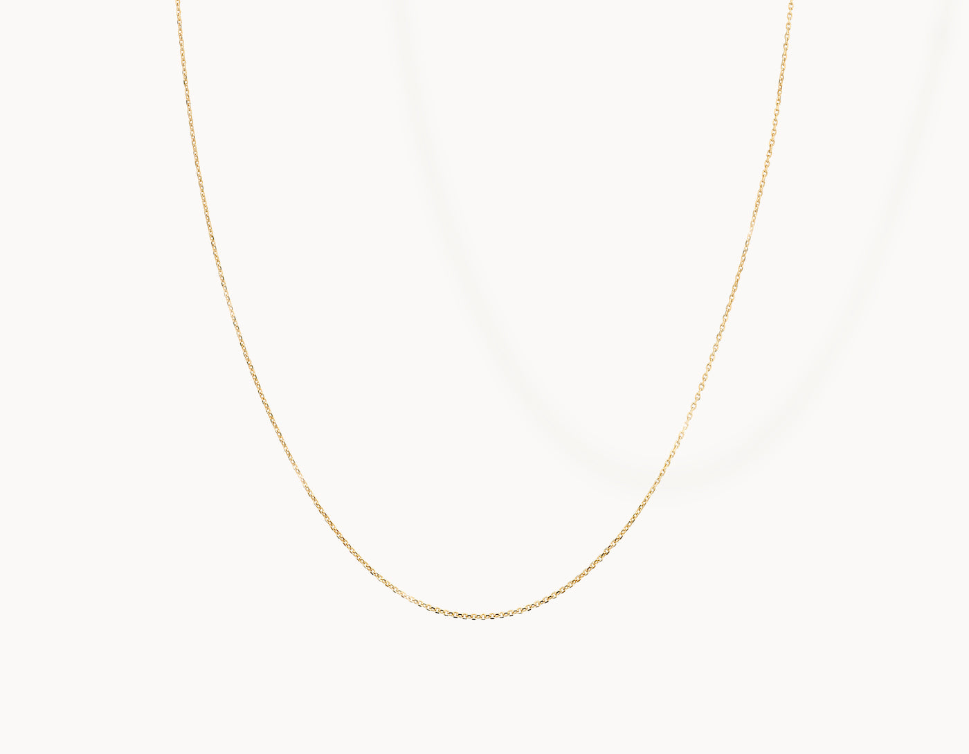 Delicate simple diamond cut Shimmer Chain Necklace by Vrai, 14K Yellow Gold