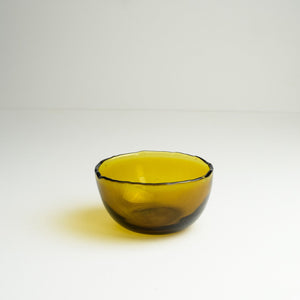 Dulari Glass Nibbles Bowl - Amber Glass