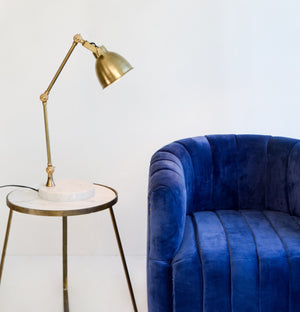 Kana Marble and Brass Table Lamp