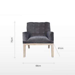 Henri Deconstructed Armchair - Olive