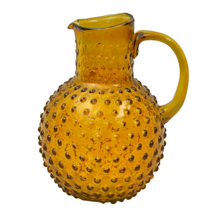 Varsha Dotted Jug - Amber Glass