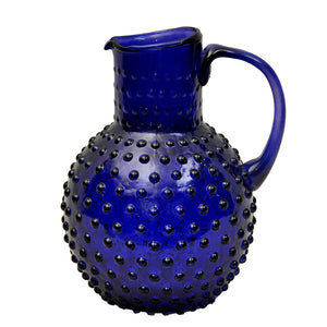 Varsha Dotted Jug - Blue Glass