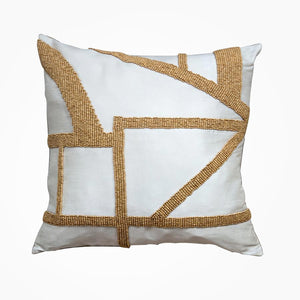 Hasani Beaded Cushion - Ivory