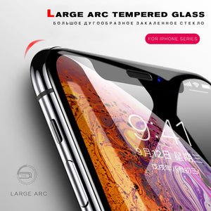 100pc/lot 5D Protective Tempered Glass For iPhone XS Max XR Glass For iPhone 6 6s Plus Screen Protector Glass on The For iPhone 7 8 XR X