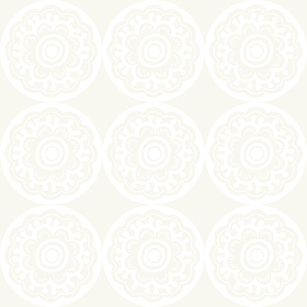 DW2415 DwellStudio Baby & Kids Zinnia Wallpaper Off White