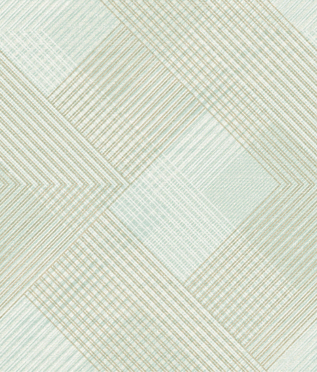 NR1534 Norlander Scandia Plaid Wallpaper Green