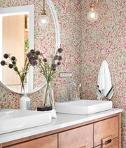 MK1122 Magnolia Home Meadow Wallpaper Azalea Pink