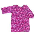 Girls Classic Tunic In Raspberry Vine