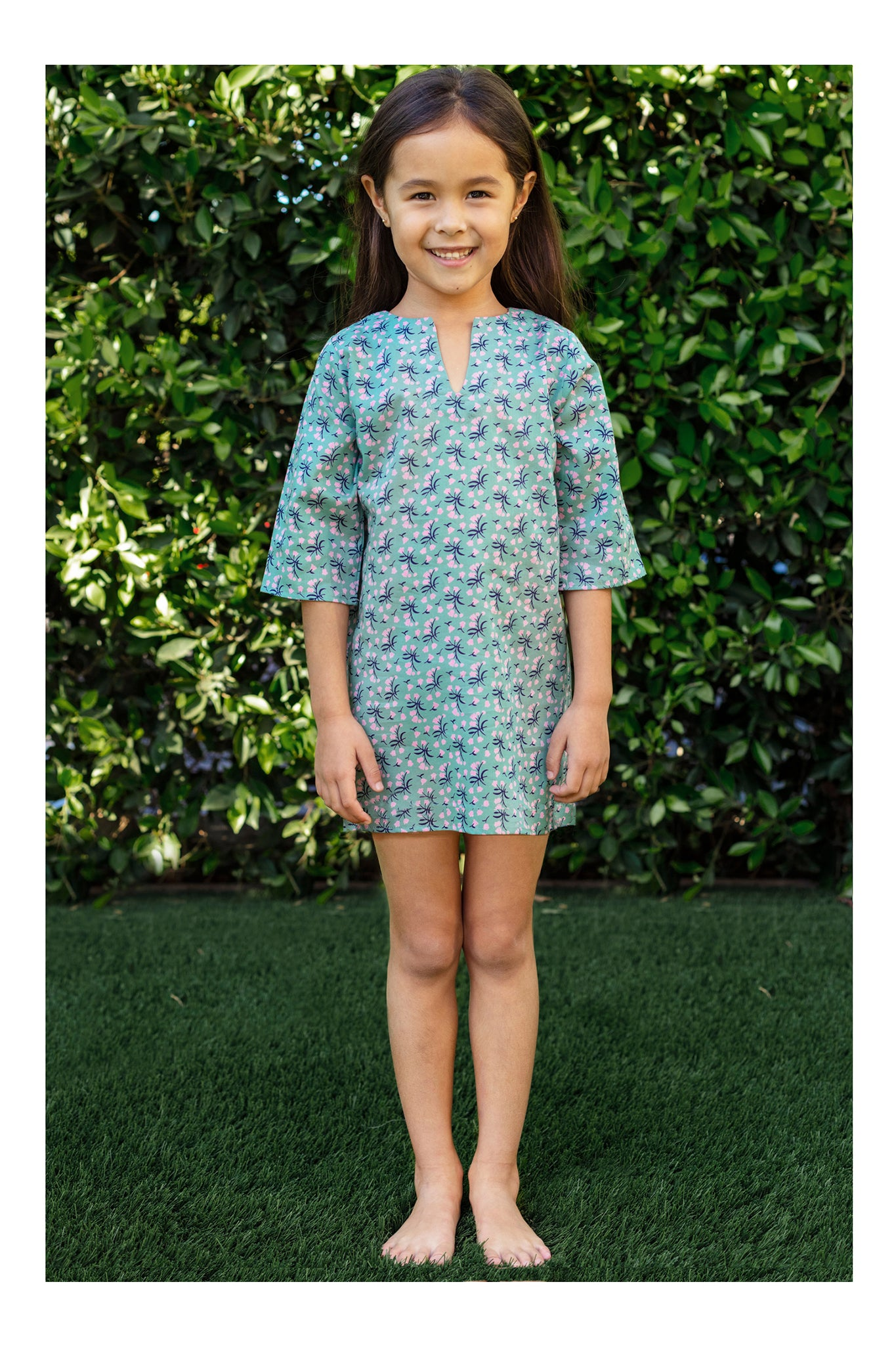 Girls Classic Tunic In Garden Bouquet