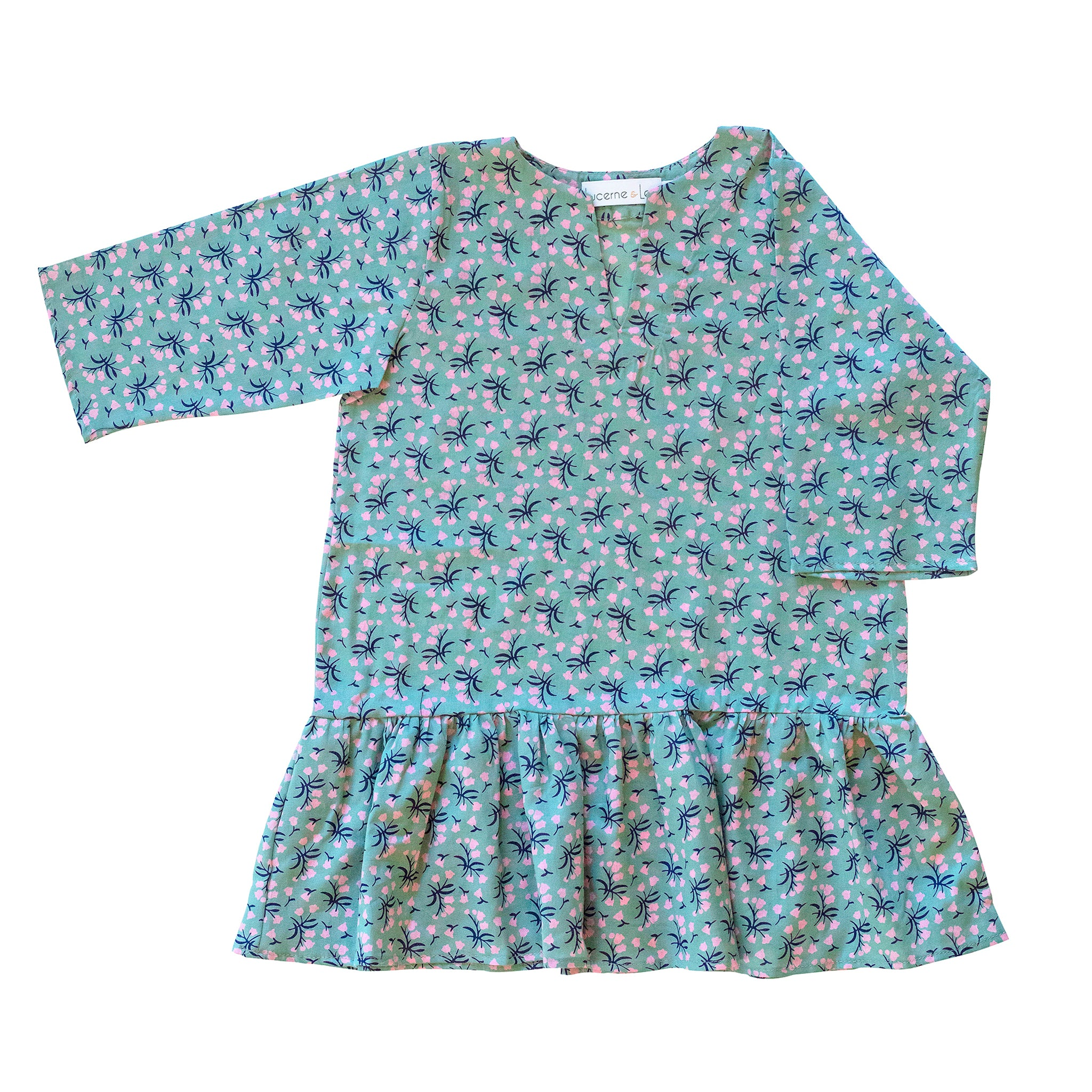 Girls Gathered Tunic In Garden Bouquet