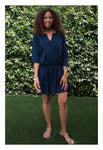 Womens Gathered Tunic In Navy