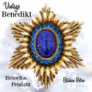 Benedikt Vintage Brooch and Pendant at bitchinretro.com
