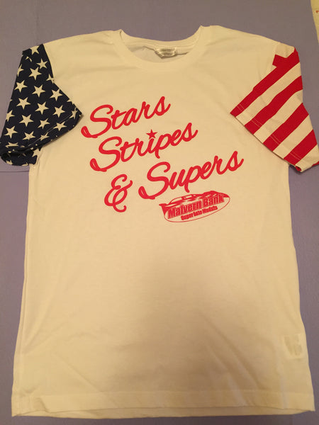 "Malvern Bank Series ""Stars, Stripes, & Supers"" Tee"