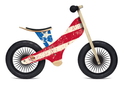Kinderfeets Retro Stars & Stripes Balance Bike