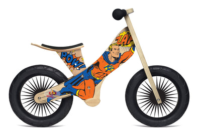 Kinderfeets Retro Superhero Balance Bike