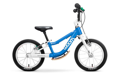"WOOM 1 Plus 14"" Balance Bike- Blue- Tikes Bikes"
