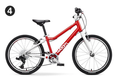 "WOOM 4 20"" Pedal Bike- red"