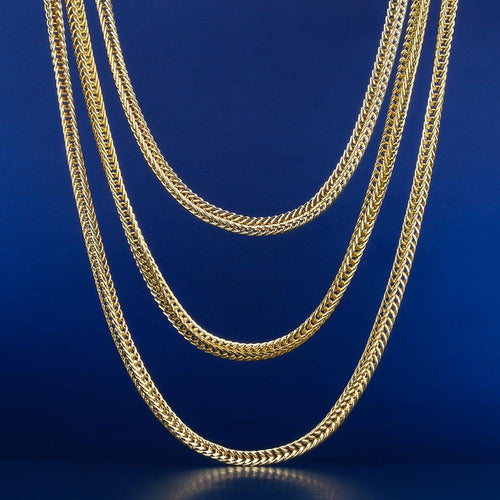 "3MM 14K Gold Franco Chains Set (20""+22""+24"")"
