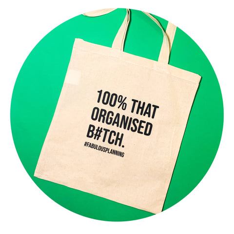 "Savage Tote Bag - ""100%"""