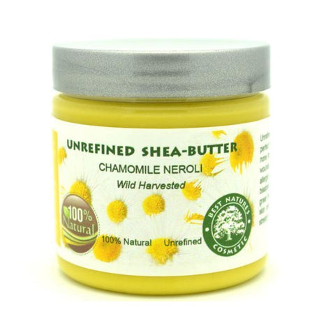 Unrefined Chamomile Neroli Shea Butter 4oz / 120 ml - Natural Organic